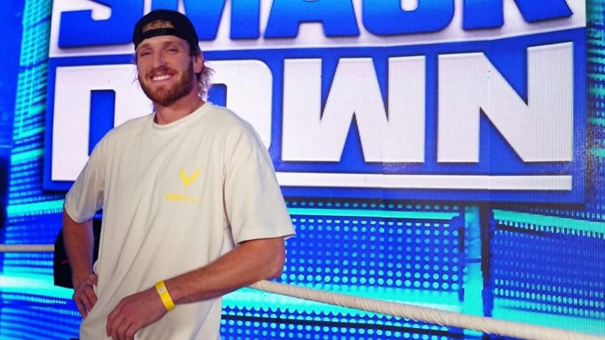 Logan Paul Backstage At Tonight's WWE SmackDown