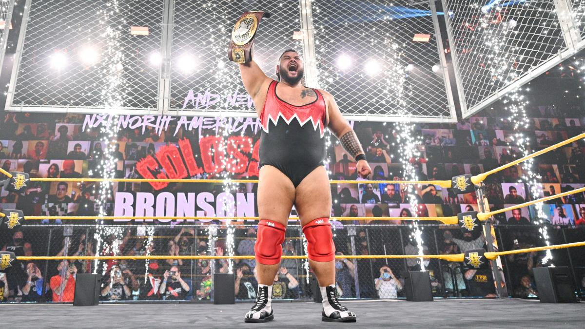 Bronson Reed Brings Wife Into The Ring For Speech After WWE NXT North  American Title Win - Wrestling Inc.